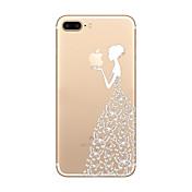 のために 超薄型 / クリア / パターン ケース バックカバー ケース Appleロゴアイデアデザイン ソフト TPU AppleiPhone 7プラス / iPhone 7 / iPhone 6s Plus/6 Plus / iPhone 6s/6 / iPhone