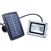 joyshine 10ワットの光制御、太陽エネルギーは、暖白色光ランプガーデンバルコニーの外廊下を導きました