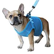 Gatos / Perros Bozales / Correas Ajustable/Retractable / Transpirable / Seguridad Sólido Rojo / Negro / Azul / Rosado / Morado Malla