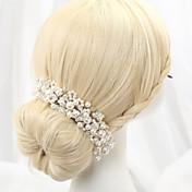 成人用 合金 人造真珠 かぶと-結婚式 ヘッドバンド