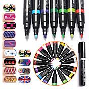 16Pcs/Lot Kits de decoración de uñas Nail Kit de herramienta de la manicura del arte maquillaje cosmético Uña Arte