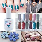 Lak na nehty UV gel 15ml 1picec Třpytky UV barevný gel Namočte off Dlouhotrvající
