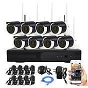 yanse® plug and play sistema de cámaras de seguridad IP visión kit p2p 960p HD IR noche del CCTV de WIFI inalámbrica 8ch NVR