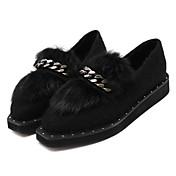 MujerOthers-Zapatos de taco bajo y Slip-Ons-Casual-Otra Piel de Animal-Negro / Rojo