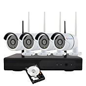 yanse®1.3メガピクセルh.264 1tb 4chワイヤレスnvrキット960p wifi ir ipカメラ防水セキュリティシステム