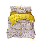 Hoja Sets Funda Nórdica 4 Piezas Poliéster Diseño Estampado reactivo Poliéster Gemela / Completa / Reina / Rey4 Unidades ( 1 Cobertor de