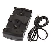 2 em 1 estação de carregamento Dock para PS3 Move controladores PS3 (preto)