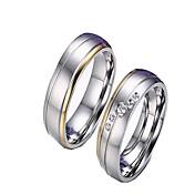 Casal Anéis de Casal Anéis Grossos Jóias Moda Estilo simples bijuterias Zircão Zircônia Cubica Aço Titânio Jóias Para Diário Casual