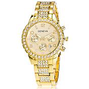 Xu™ Mujer Reloj de Moda Reloj de Pulsera Cuarzo Calendario Acero Inoxidable Banda Cosecha Casual Plata Dorado Oro RosaDorado Plata Oro