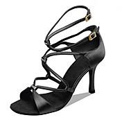 Zapatos de baile(Negro Camello) -Latino Jazz Salsa Zapatos de Swing-Personalizables-Tacón Personalizado