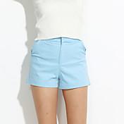 De las mujeres Pantalones Chinos-Simple Microelástico-Poliéster