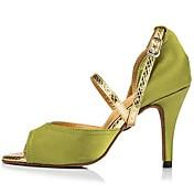 Zapatos de baile(Verde) -Latino-Personalizables-Tacón Stiletto