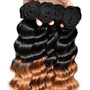 "3pcs / lot 12 ""-26"" pelo virginal brasileño 1b30 del pelo virginal brasileño teje"