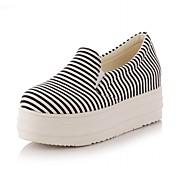 Mujer-Tacón Cuña-Plataforma Confort Innovador-Zapatos de taco bajo y Slip-Ons-Boda Oficina y Trabajo Vestido Informal Fiesta y Noche-Tela-