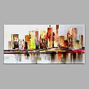 Pintada a mano Abstracto Pinturas de óleo,Modern Un Panel Lienzos Pintura al óleo pintada a colgar For Decoración hogareña
