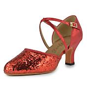 Sapatos de Dança(Vermelho) -Feminino-Não Personalizável-Latina Moderna
