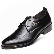 Hombre Zapatos Semicuero Primavera Verano Otoño Invierno Confort Botas de Moda Oxfords Con Cordón Para Casual Fiesta y Noche Negro Marrón