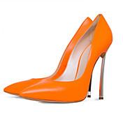 Mujer-Tacón StilettoTacones-Oficina y Trabajo Informal Fiesta y Noche Vestido-Semicuero-Naranja Amarillo Rosa Brillante Rojo Nudo