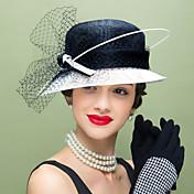 Mujer Pluma Lino Red Celada-Boda Ocasión especial Casual Tocados Sombreros 1 Pieza
