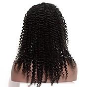 黒人女性7aの変態カーリーレースの前部人間の髪の毛のためのインドのアフロ変態カーリー完全なレース人間の髪の毛のかつらは、完全なレースのかつらをかつら