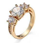 指輪 キュービックジルコニア ジルコン キュービックジルコニア 合金 ゴールド シルバー ジュエリー カジュアル 1個