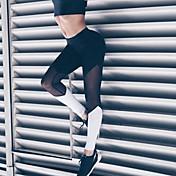 Feminino Com Rasgos Legging,Malha Poliéster