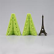 1つの3dエッフェル塔フォンダンを作るために組み立てる2つのシリコーン金型ケーキ装飾ツール色ランダム