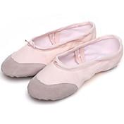 Zapatos de baile(Negro Rosa Rojo) -Ballet-Personalizables-Tacón Plano