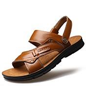 Hombre Zapatos Cuero Primavera Verano Otoño Suelas con luz Botas de Moda Confort Sandalias Volantes Para Casual Fiesta y Noche Amarillo