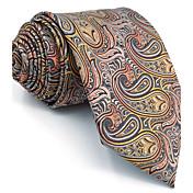 Hombre Corbata Vintage Bonito Fiesta Trabajo Casual-Rayón Cachermira-Gris Todas las Temporadas