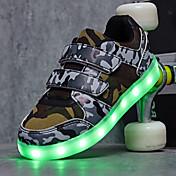 Sportssko-Tyl-Komfort Light Up Sko-Drenge-Sort Hvid Grøn / Blå-Udendørs Fritid Sport-Lav hæl