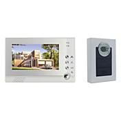 Actop sistema RFID de intercomunicación casa 1v1 Enterada a la un solo timbre video de 7 pulgadas con pantalla de 6 lámparas de