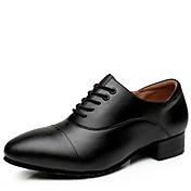 Na míru-Pánské-Taneční boty-Moderní-Kůže-Nízký podpatek-Černá Černá bílá