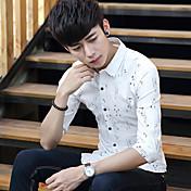 ljeto tanak odjeljak 7 rukav košulje muškarci kratki rukav košulje muškarci Korejski tanak ispis rukav košulje plima inča