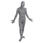 Disfraces de Cosplay Cosplay Cosplay de películas  Blanco Negro Escocés Cuadrícula Estampado Leotardo/Pijama Mono Traje de GatoHalloween