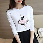 サイン秋の長袖Tシャツ女子学生スリム新しい女性韓国の野生の綿のシャツ