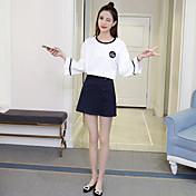 Mujer Faldas Uso Diario Fiesta de Cóctel Baile de Promoción Quinceañera Escuela Cita Fiesta de Boda Dulces 16 Verano Blusa Falda Trajes,