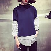 2017 del resorte nuevas mujeres de Corea del abrigo suelto era costuras finas rayas verticales camisa de manga larga estudiantes de sexo
