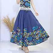 国家の風に署名2017年春新しい女性' sの綿ビッグスイングプリーツスカート中国風のバストのスカート