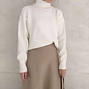 長袖ニットセーター韓国人女性をヘッジ2016新しいレジャーミニマル色鮮やか厚く暖かい高襟