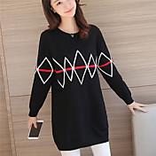 女性の#4382新しい冬の長いセクション' sのラウンドネックニットクリップの色緩い大きなヤード厚いセーター