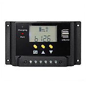 20Aの12Vの24V LCD太陽コントローラのバッテリ充電レギュレータデュアルUSBタイマ制御