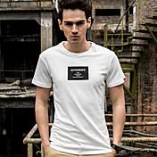 記号2017夏の新しい波男性の綿の半袖Tシャツ印刷スリムなラウンドネックのTシャツ韓国のスリム