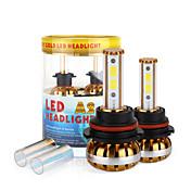 2017 nueva 9800lm 9004 120w llevó la linterna kit de mazorca de chips 6000K bombillas 8000K lámparas par luz