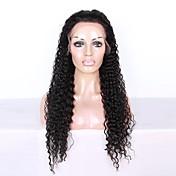 8-26インチのグルーレスレースのフロントのかつら変態のカール自然な黒色のブラジルの人間の髪のレースのかつら女性のための