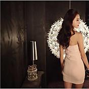 vestido dulce atractivo del vestido vestido de encaje sin espalda temperamento