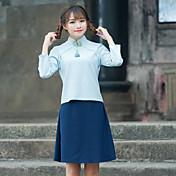 風の夏の新しい共和党のアートファンxuesheng改善チャイナブラウスの衣装漢服の袖に署名
