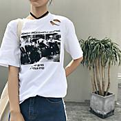 Signo nuevo puerto agujero de viento impresión sencilla y cómoda camiseta de algodón de cobertura