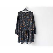 秋と冬のベースのスカートの2017年春モデルの女性の緩い大きなヤードの長いセクション長袖のシフォンドレス韓国語バージョン