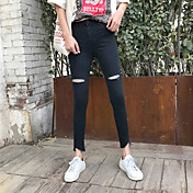 Signo pantalones cortos irregulares estiramiento pantalones de mezclilla pantalones femeninos